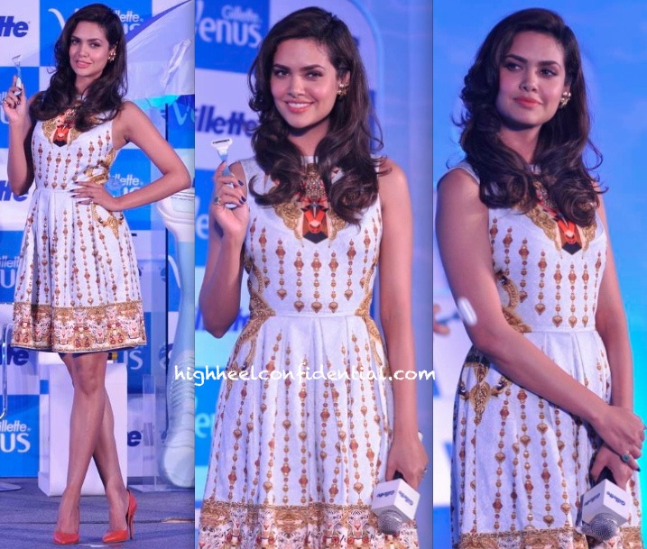 Esha Gupta In Manish Arora At Gillette Event-2
