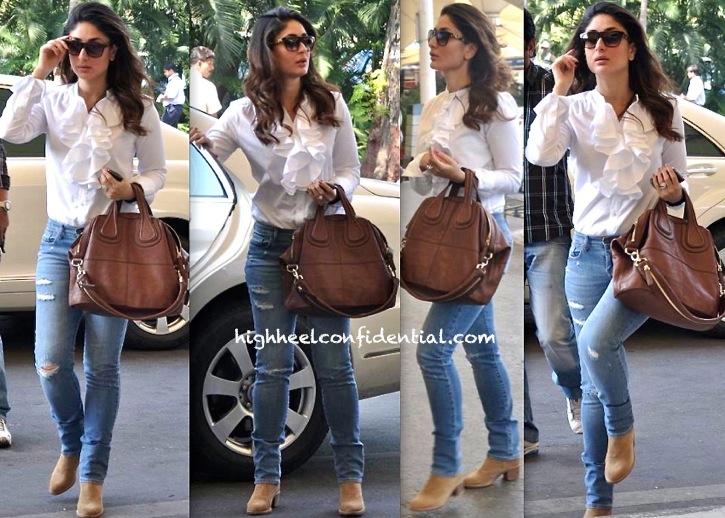 Givenchy Bag On Kareena Kapoor At The Mumbai Airport