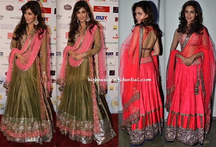 In Manish Malhotra- Chitrangda Singh And Esha Gupta At Masala Awards 2013-1