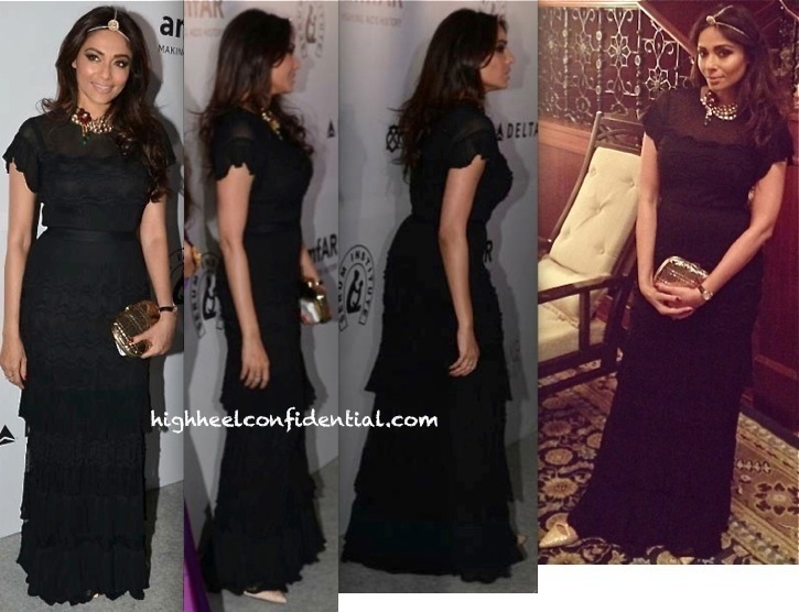 Kalyani Saha Chawla In Dior At amfAR India Gala