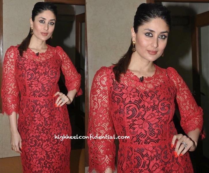 Kareena Kapoor In Dolce & Gabbana At 'Gori Tere Pyaar Mein' Promotion:Press Meet-2