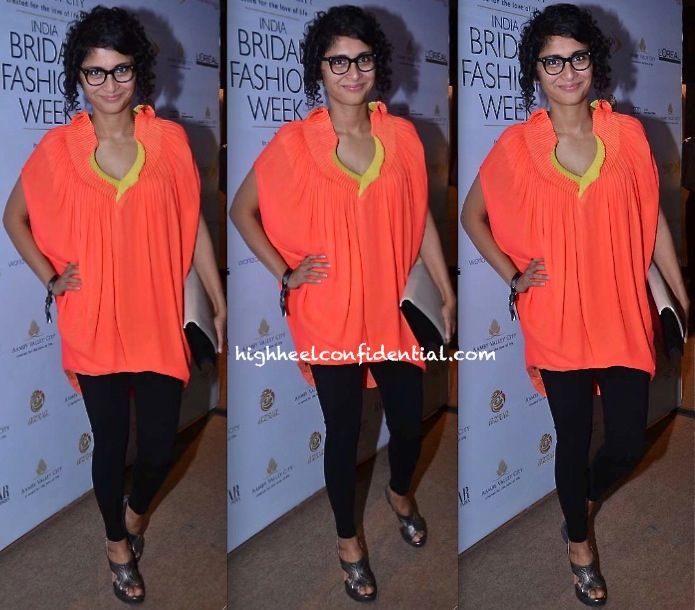 Kiran Rao In Gaurav Gupta At The Designer's Show At India Bridal Week 2013