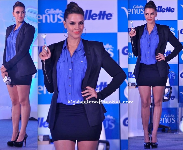 Neha Dhupia In DRVV At Gillette Event-1