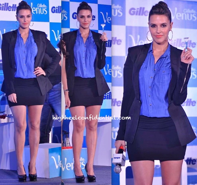 Neha Dhupia In DRVV At Gillette Event-2