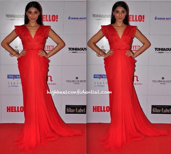 Pernia Qureshi At Hello! Hall Of Fame Awards 2013