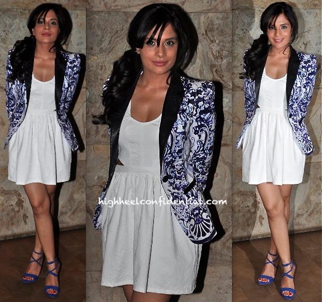Richa Chadda In Bershka And Cavalli At 'Bullett Raja' Screening