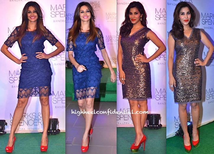 Shibani Dandekar And Sophie Choudry At Marks And Spencer Store Launch Mumbai