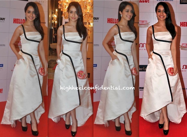 Shraddha Kapoor In Dior At Hello! Hall Of Fame Awards 2013