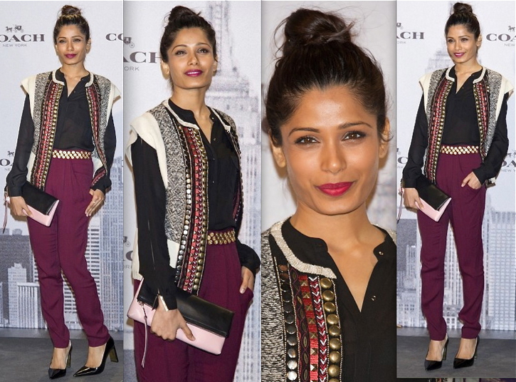 freida pinto-coach boutique opening-madrid