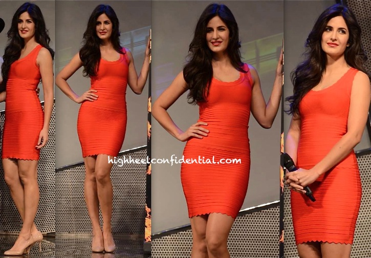 katrina kaif at Dhoom 3 merchandise launch-herve leger-2