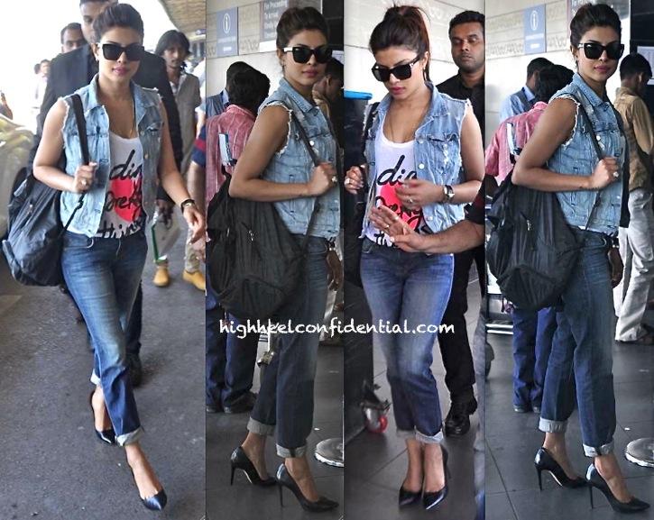 priyanka chopra at mumbai airport nov 2013
