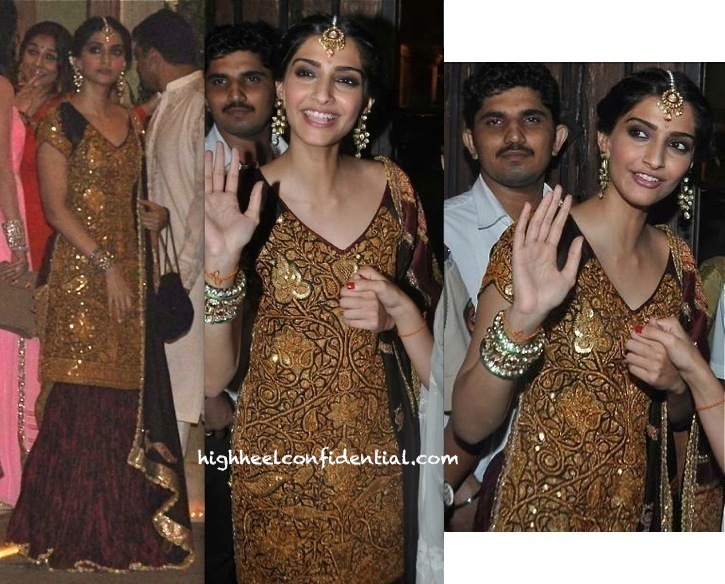 sonam kapoor in anuradha vakil at diwali 2013 party