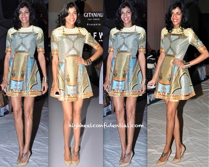 Anushka Manchanda In Pankaj & Nidhi At India Resort Fashion Week 2013
