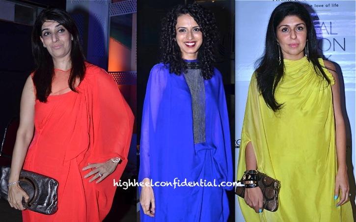 Azmina Rahimtoola, Aparna Badlani And Anaita Adajania At India Bridal Week 2013 In Gaurav Gupta-2