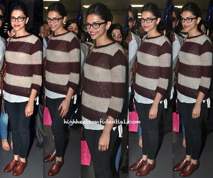 Deepika Padukone Photographed At Mumbai Airport returning from dubai-1