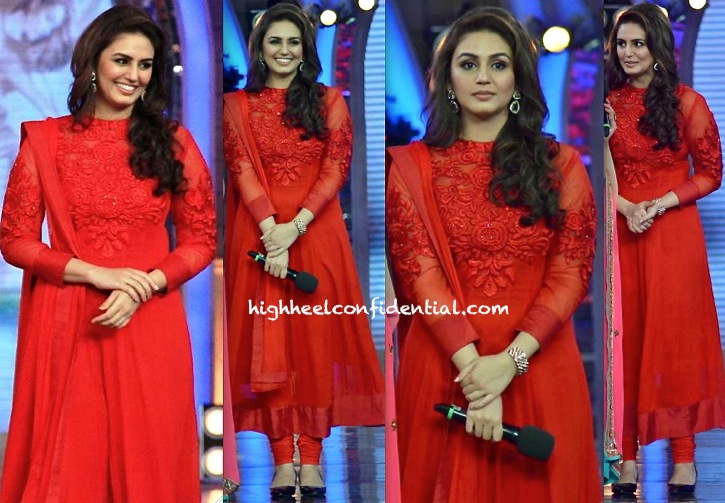 Huma Qureshi (In Bhaavya Bhatnagar) On The Sets Of Bigg Boss For Dedh Ishqiya
