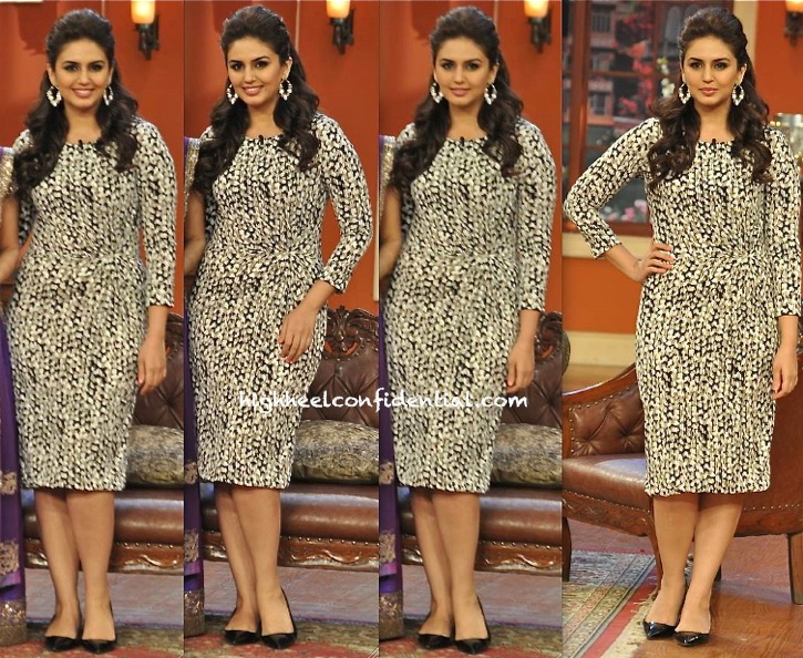 Huma Qureshi on comedy nights with kapil for dedh ishqiya promotions-1