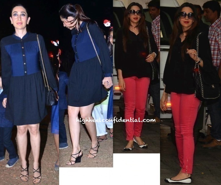 Karisma Kapoor At Midnight Mass And At The Kapoor Brunch-2