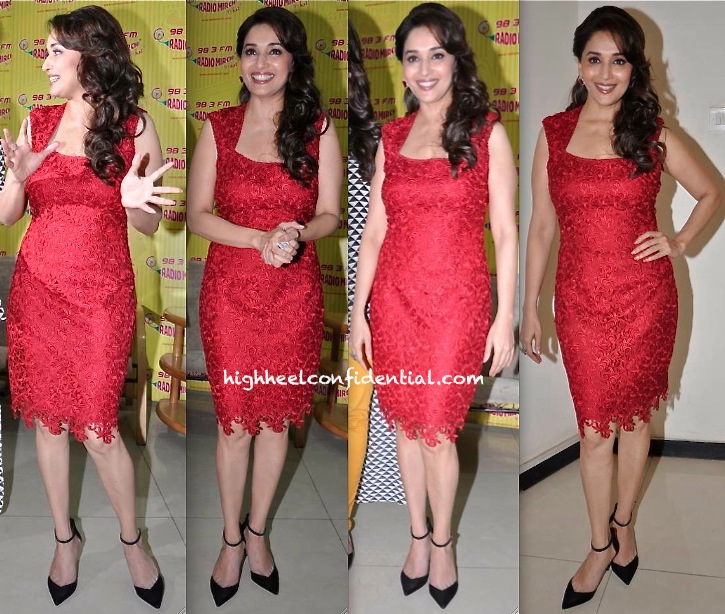 Madhuri Dixit At Dedh Ishqiya Promotions In Laundry by Shelli Segal-2