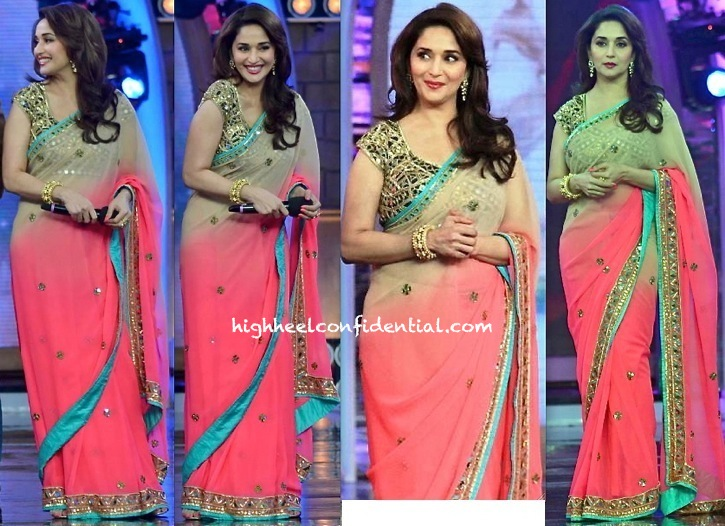Madhuri Dixit (In Arpita Mehta) On Bigg Boss Sets (For 'Dedh Ishqiya' Promotions)-1