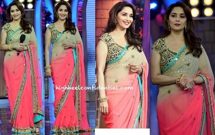 Madhuri Dixit (In Arpita Mehta) On Bigg Boss Sets (For 'Dedh Ishqiya' Promotions)-2