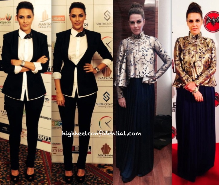 Neha Dhupia In DRVV (Times Property Expo Event) And Shantanu And Nikhil (At The Bacardi Event)-1