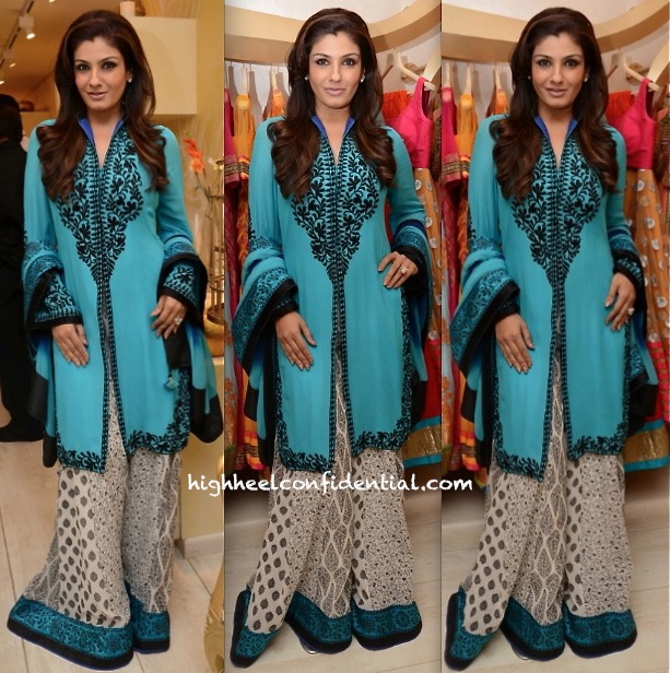 Raveena Tandon In Surily Goel At '2Divine' Store Launch