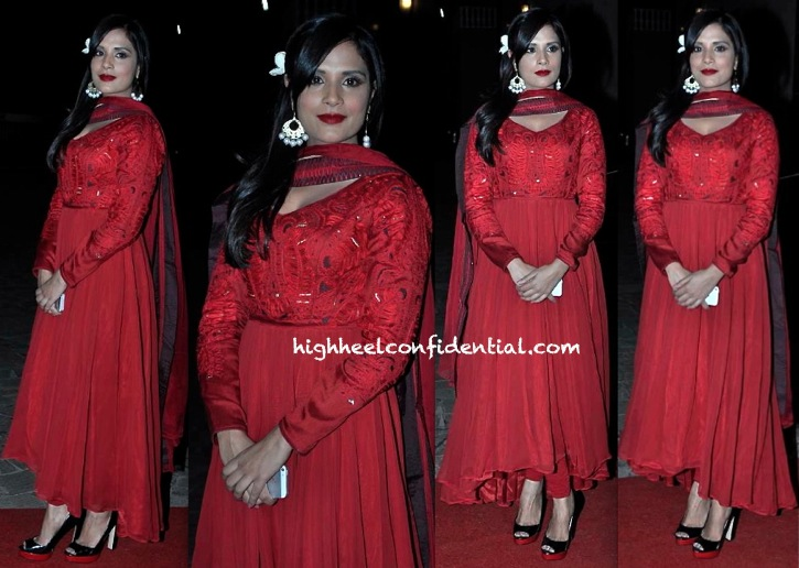 Richa Chadda At Aamna Shariff's Wedding Reception