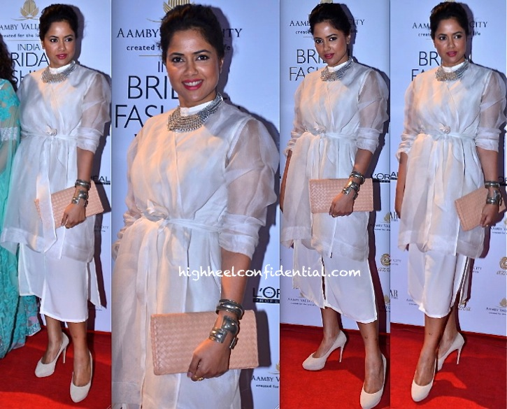 Sameera Reddy In Nishka Lulla At India Bridal Week 2013