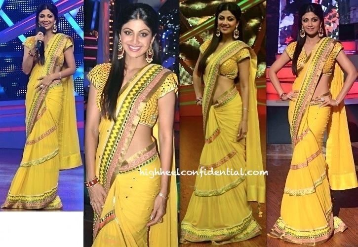 Shilpa Shetty In Surily Goel On Nach Baliye Sets-1
