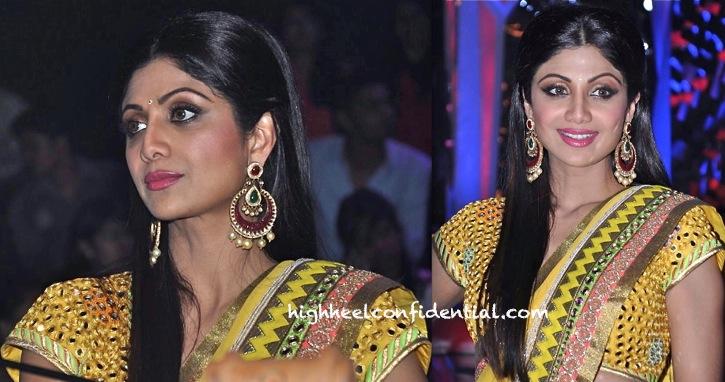 Shilpa Shetty In Surily Goel On Nach Baliye Sets-2