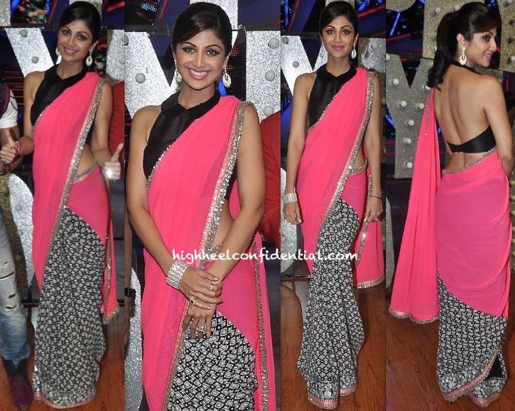 Shilpa Shetty On Nach Baliye Sets In Manish Malhotra -1