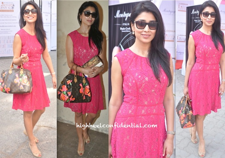 Shriya Saran In BCBG At Times Literature Festival