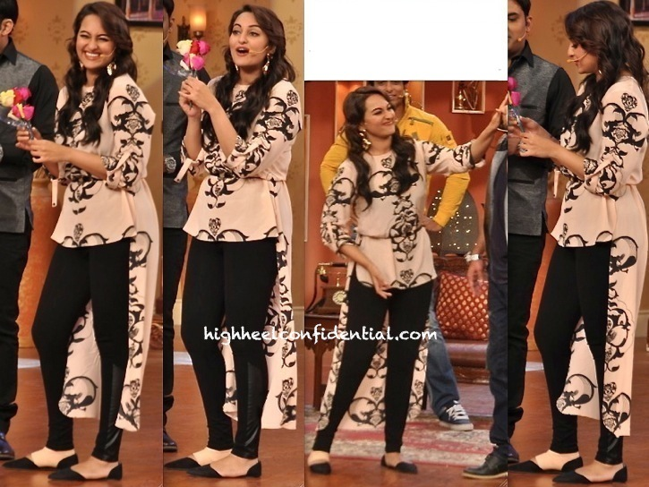 Sonakshi Sinha In Payal Singhal On Sets Of Comedy Nights For R...Rajkumar Promotions-1