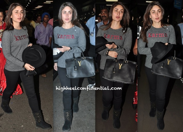 kareena kapoor photgraphed at the airport