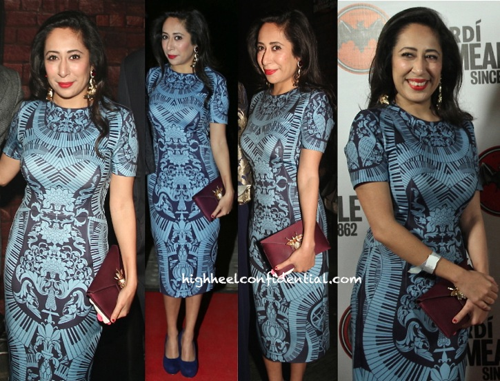 nandini bhalla in pankaj and nidhi at bacardi event in delhi