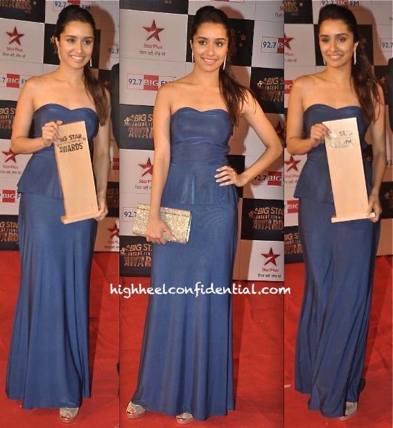 shraddha kapoor at big star entertainment awards 2013