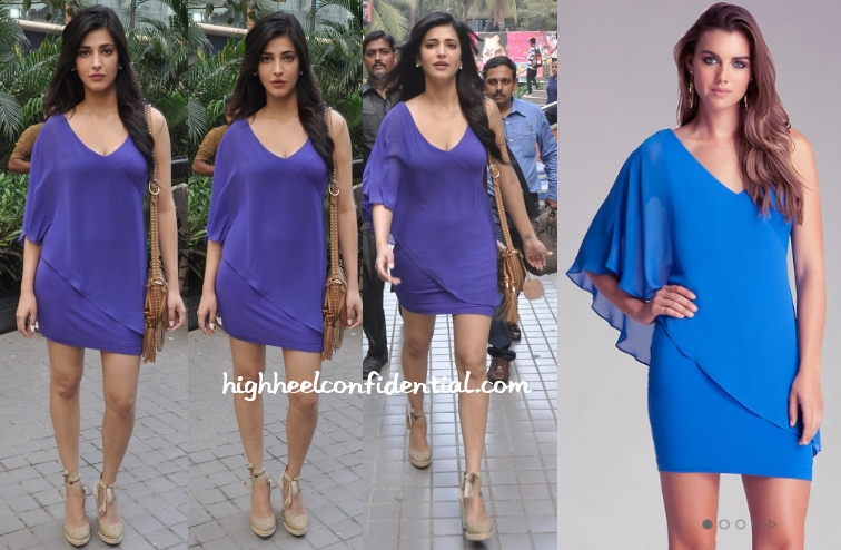 shruti-haasan-welcome-back-bebe-blue-dress