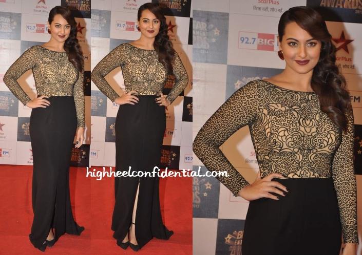 sonakshi-sinha-zara-umrigar-big-star-entertainment-awards-2013