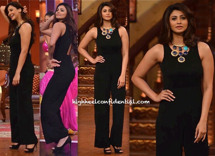 Daisy Shah in anita dongre On Comedy Nights With Kapil' Sets