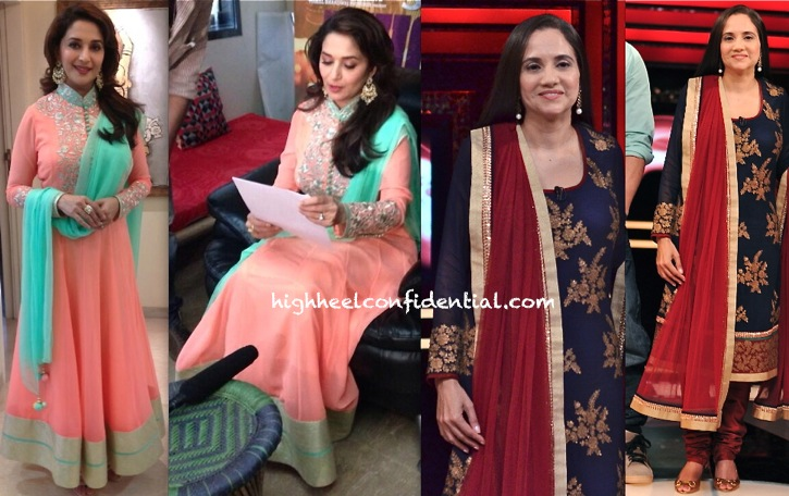 In SVA By Sonam & Paras Modi- Madhuri Dixit For 'Dedh Ishqiya' Promotions And Anupama Chopra On 'The Front Row'