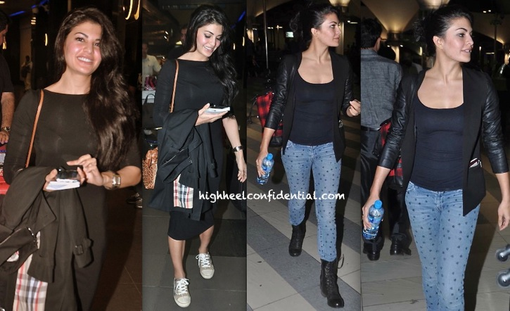 Jacqueline Fernandez Photographed At The Mumbai Airport
