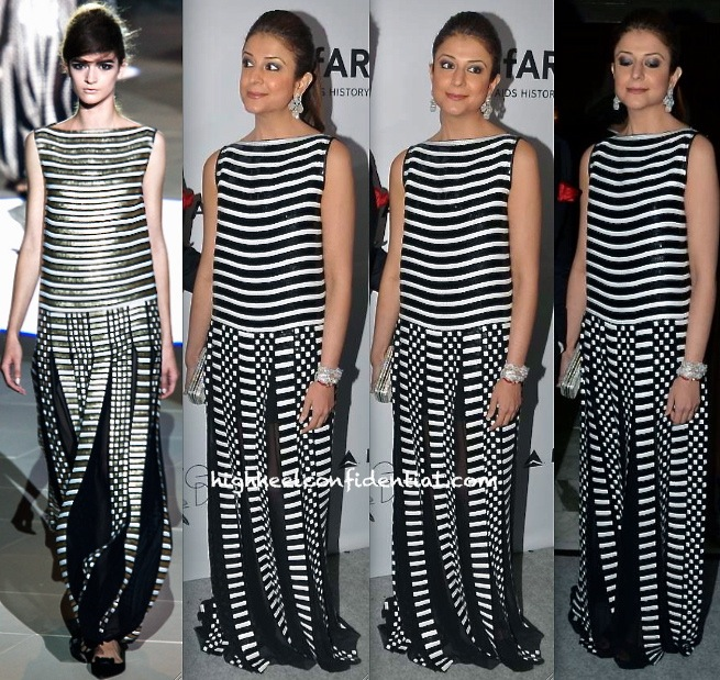 Komal Wazir In Marc Jacobs Spring 2013 At amfAR India Gala