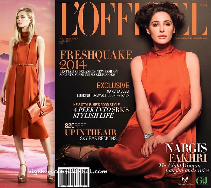 Nargis Fakhri Covers L'Officiel Jan 2014 In Gucci