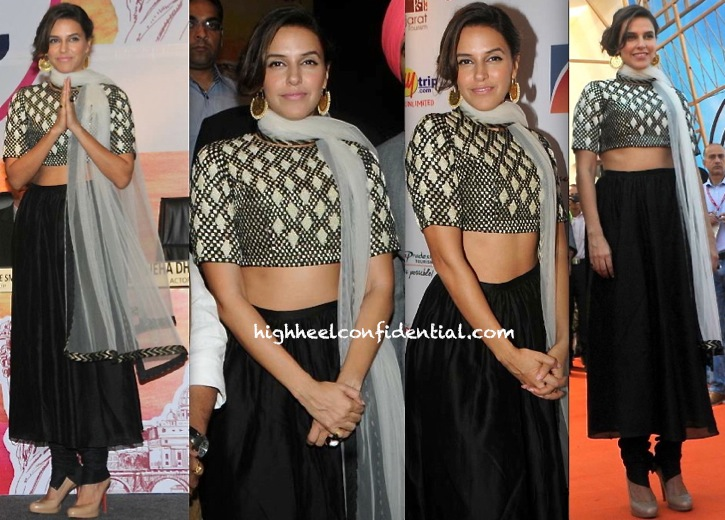 Neha Dhupia In Payal Singhal At Travel Tourism Exhibition