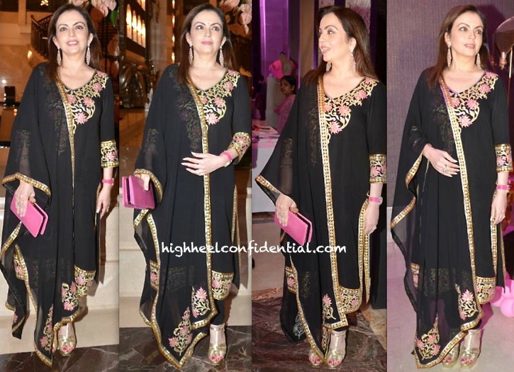 Nita Ambani In Abu Sandeep At The 'Pinkfilly' Breast Cancer Awareness Fundraiser
