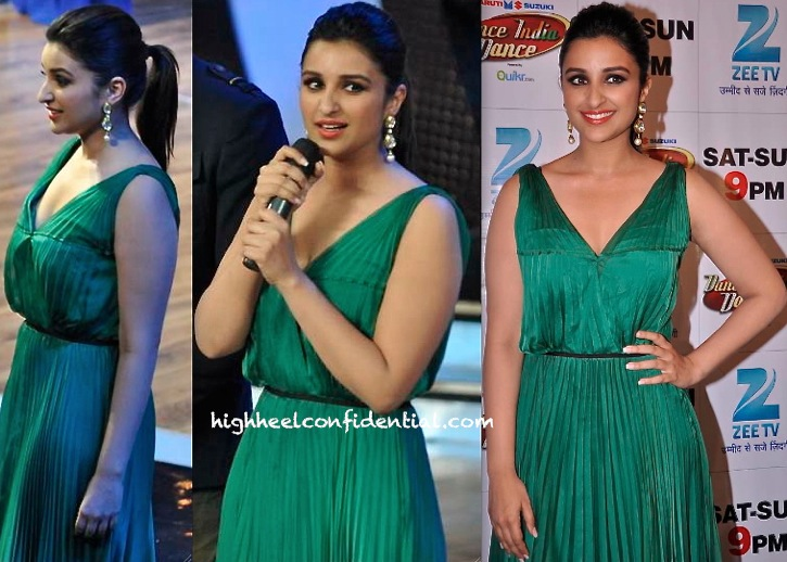 Parineeti Chopra In Halston Heritage On DID Sets For Hasee Toh Phasee Promotions-1