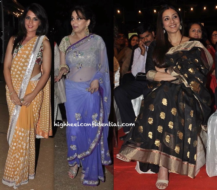 Richa Chadda, Madhuri Dixit And Tabu At Umang Police Show 2014-1