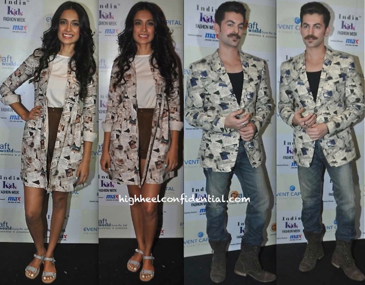 Sarah Jane Dias And Neil Nitin Mukesh In Nishka Lulla At Nishka Lulla's Show, India Kids Fashion Week