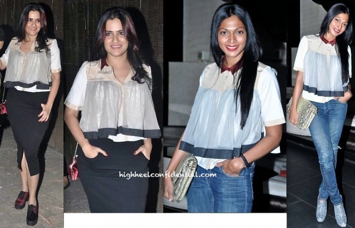 Sona Mohapatra In Bodice By Ruchika Sachdeva  At 'One By Two' Screening (Also Seen On Nima Manuel)